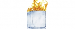 ice block on fire