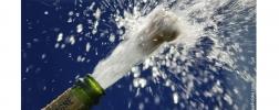champagnefles die ontploft